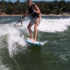 IMAGE: Lori Giving Wakesurfing A Try