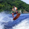 IMAGE: Catchin Some Air On A Home Made Wakeskate